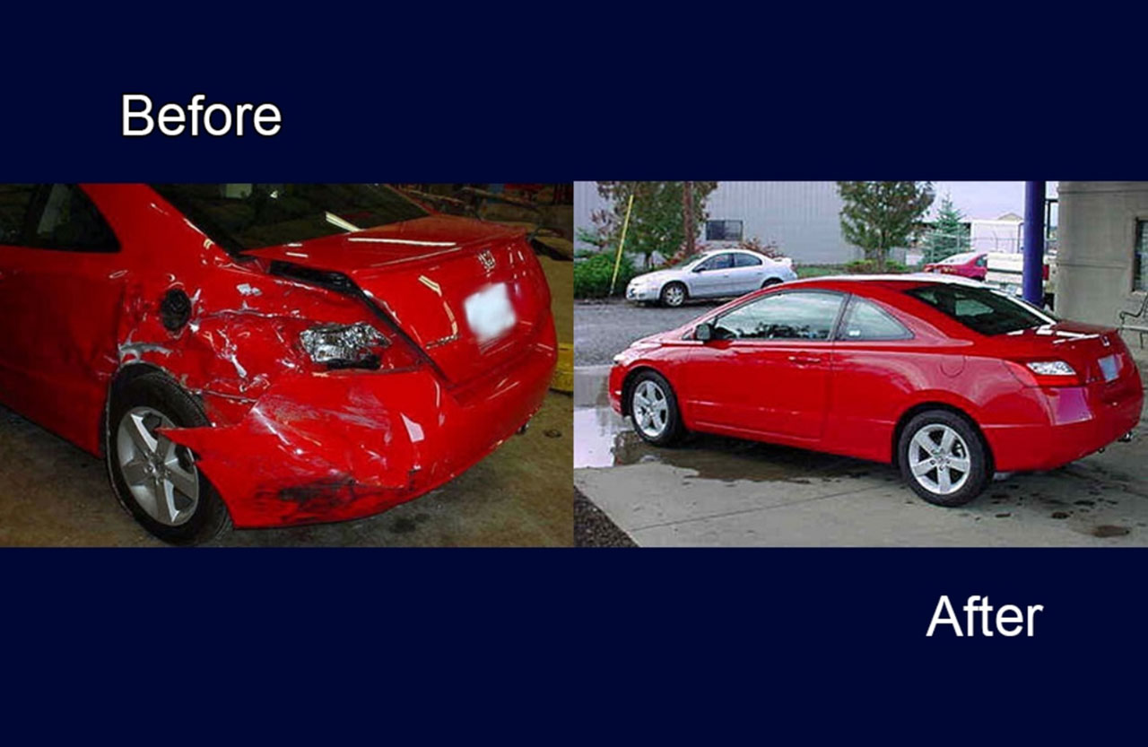 red car auto body painting services